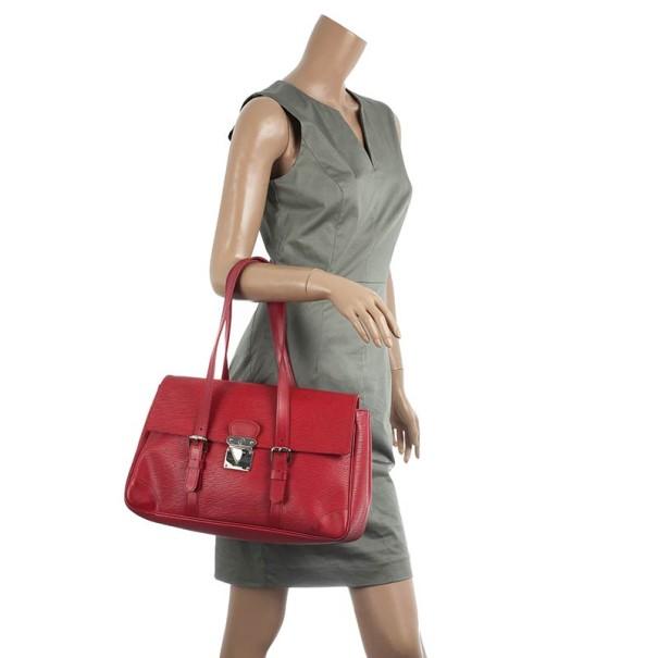 Louis Vuitton Red Epi Leather Segur MM