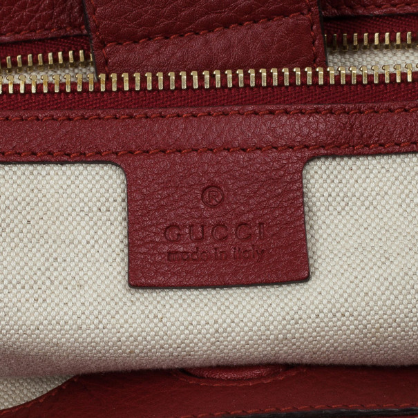 Gucci Bamboo Shopper Large Leather Tote