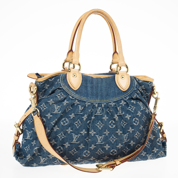 Louis Vuitton Denim Pleaty Tote