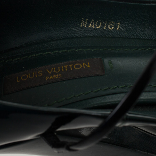 Louis Vuitton Teal Patent Fetish Mary Jane Pumps Size 40
