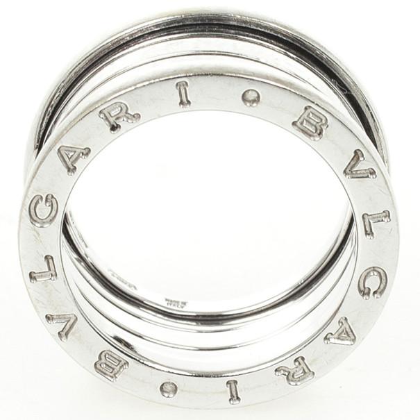 Bvlgari B.Zero1 18K White Gold 4 Band Ring Size 53
