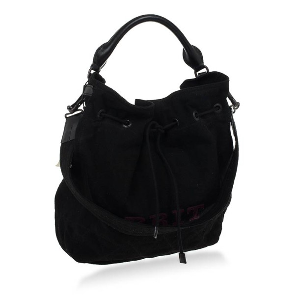 Burberry Brit Medium Cambrose Black Canvas and Leather Hobo
