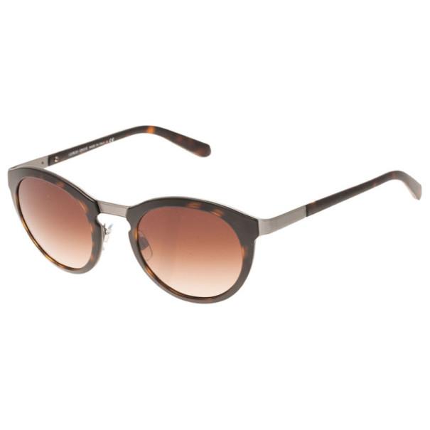 Giorgio Armani Tortoise Frame Phantos Round Sunglasses