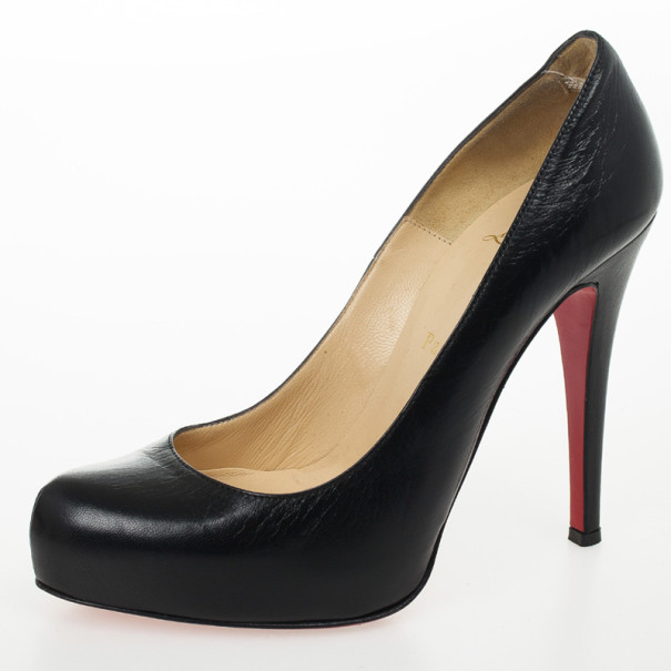 Christian Louboutin Black Leather Rolando Pumps Size 36.5