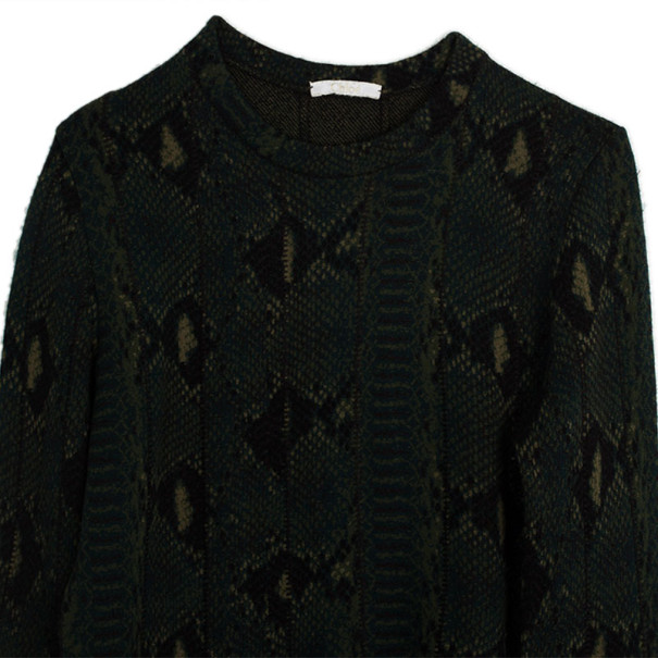 Chloe Snake Print Knit Sweater S