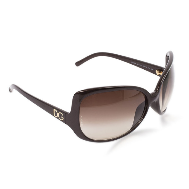 Dolce and Gabbana Brown Oversized Square Sunglasses