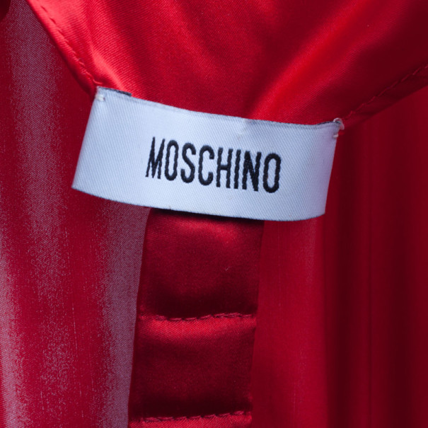 Moschino Draped Neck Silk Dress S