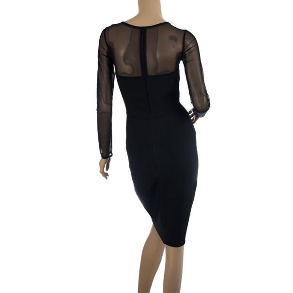 Herve L. Leroux Mesh Tulle Bandage Dress S