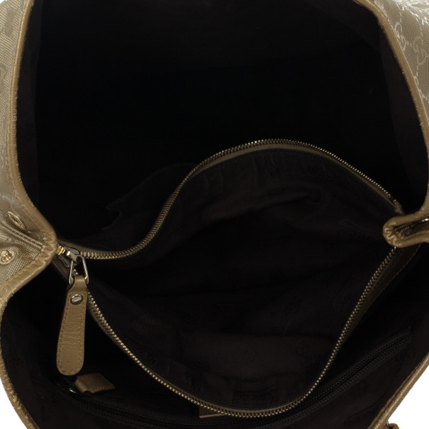 Gucci Gold Monogram GG Large Tote