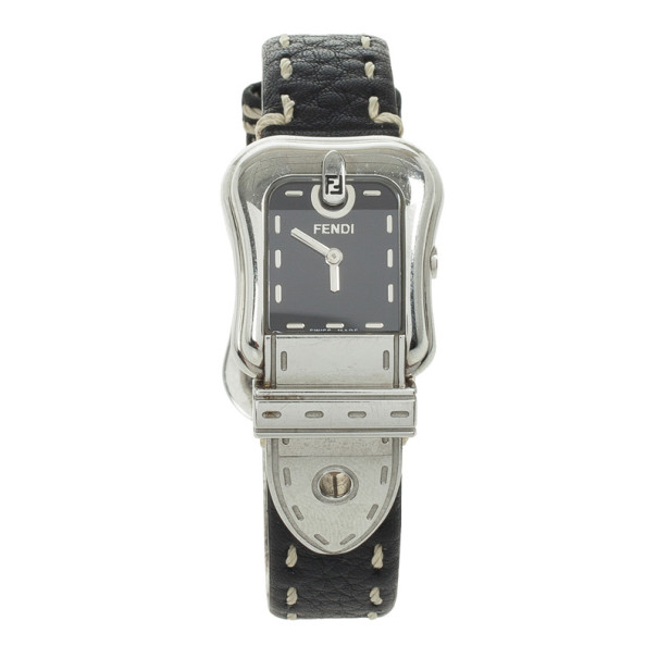 Fendi Black SS B Womens Wristwatch 35 MM