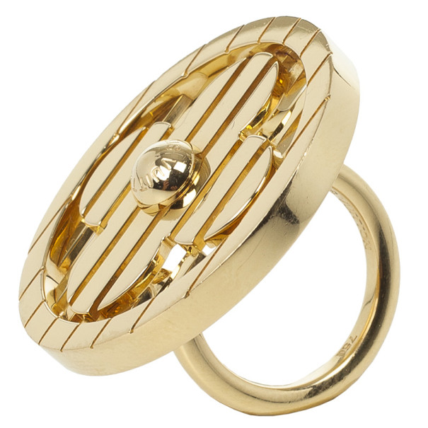 Louis Vuitton Fleur Yellow Gold Ring Size 53