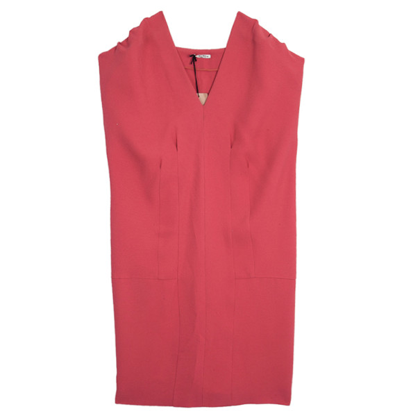 Miu Miu Short Coral Back Pleated Dress M