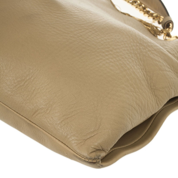 Gucci 1970 Beige Leather Hobo