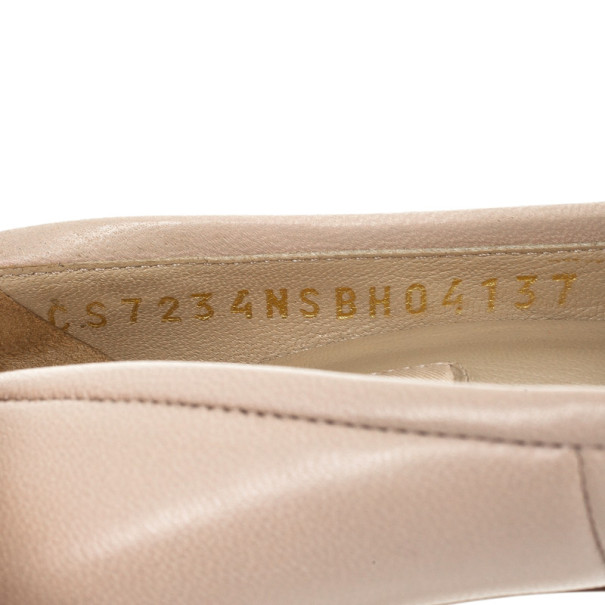 Valentino Nude Leather Platform Pumps Size 37