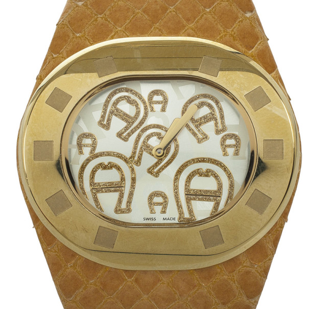 Aigner Gold-Plated SS Womens Watch 36 MM