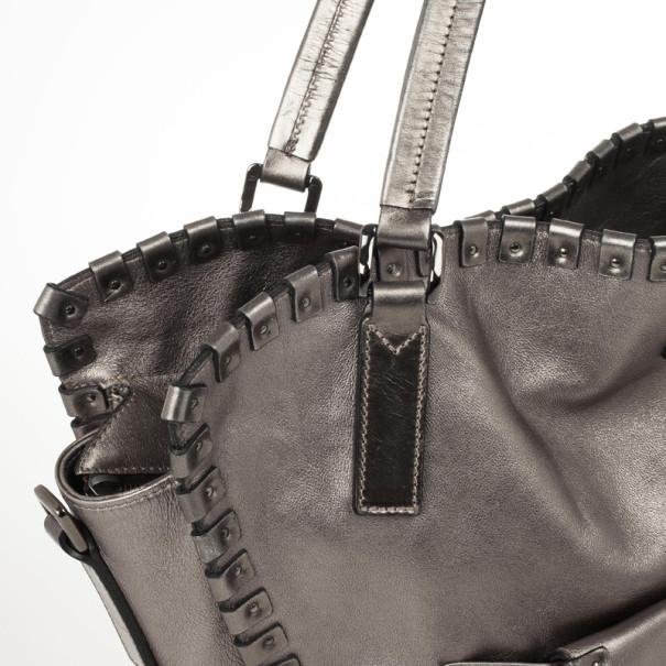 Burberry Metallic Leather Tote