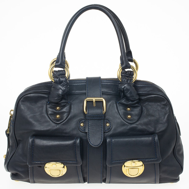 Marc Jacobs Navy Venetia Satchel Bag