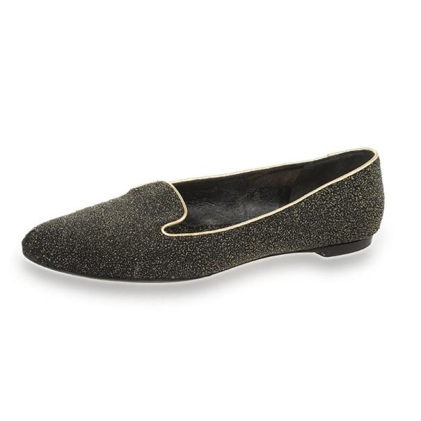 Alexander McQueen Glitter Smoking Slippers Size 38