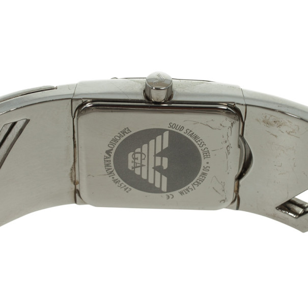 Emporio Armani Crystal Set Bangle Womens Wristwatch 20 MM