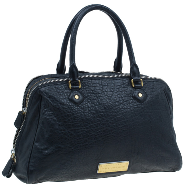 Marc by Marc Jacobs Black Leather Washed Up Lauren Satchel