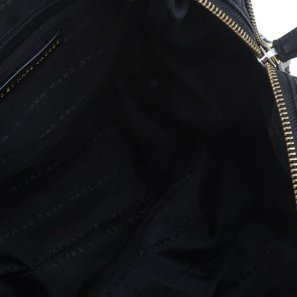 Marc by Marc Jacobs Black Leather Washed Up Lauren Satchel
