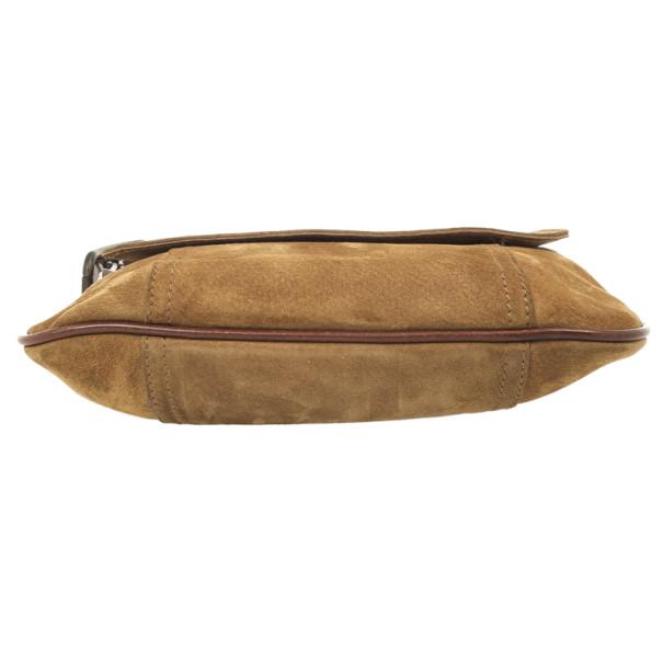 Dolce & Gabbana Camel Suede Shoulder Bag