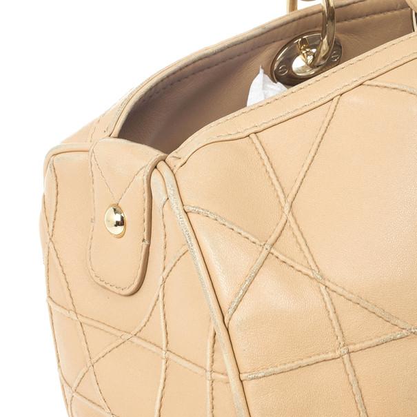 Dior Beige Granville Polochon Bag