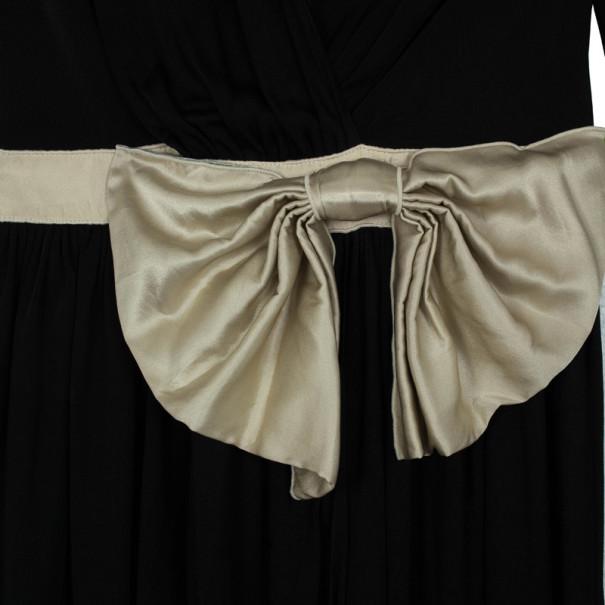 D&G Long Sleeved Ivory Bow Dress M