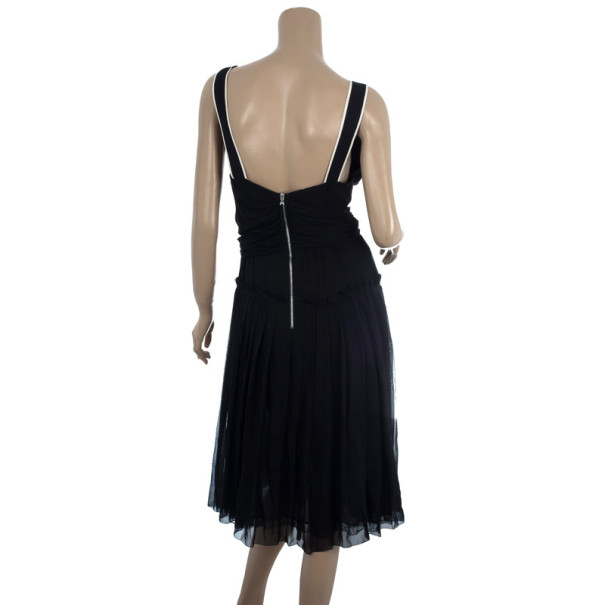 D&G Pleated Silk Dress M