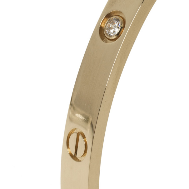 Cartier 4 Diamonds Rose Gold Love Bracelet 19 CM