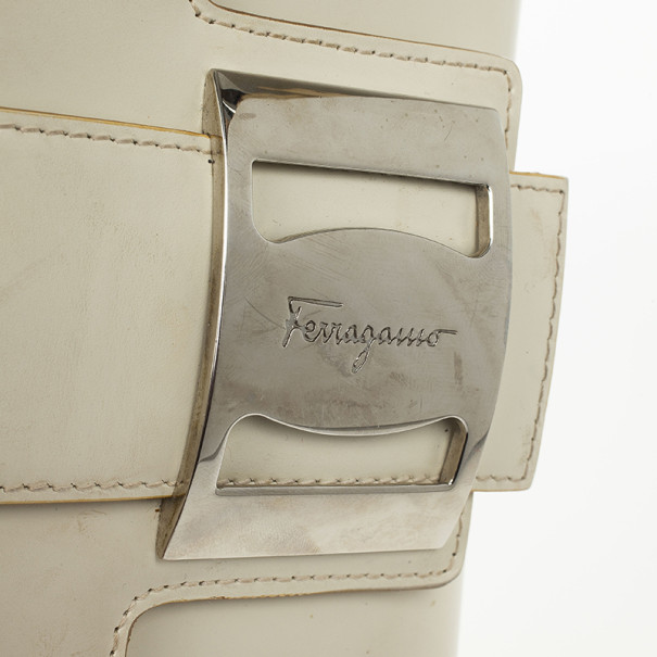 Salvatore Ferragamo Flap Buckle Shoulder Bag