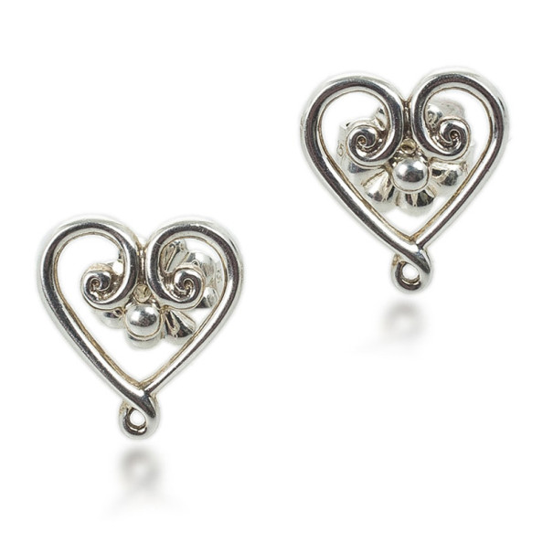 Tiffany & Co. Paloma's Venezia Goldoni Heart Silver Earrings