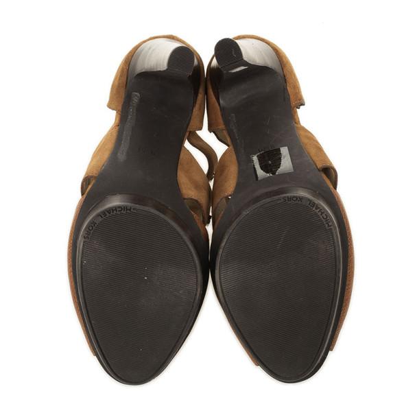 MICHAEL Michael Kors Beige Gibson Platform Sandals Size 40