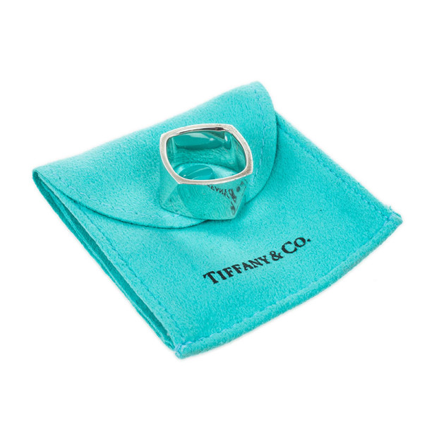Tiffany & Co. Silver Frank Gehry Torque Ring Size 58
