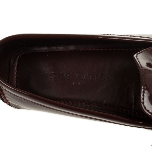 Louis Vuitton Brown Patent Zen Loafers Size 38.5