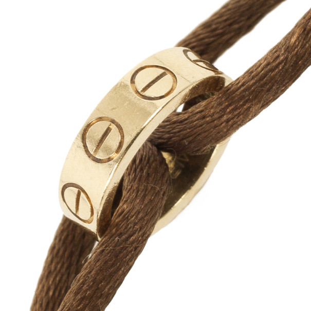 Cartier Love Charity 18kt Gold Cord Bracelet