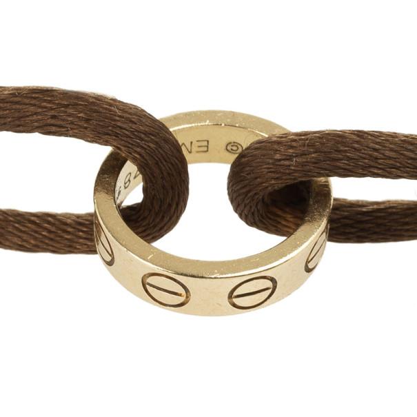 Cartier Love Charity 18kt Gold Cord Bracelet