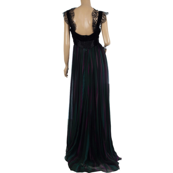 Elie Saab Ruched Poly Tulle Gown M