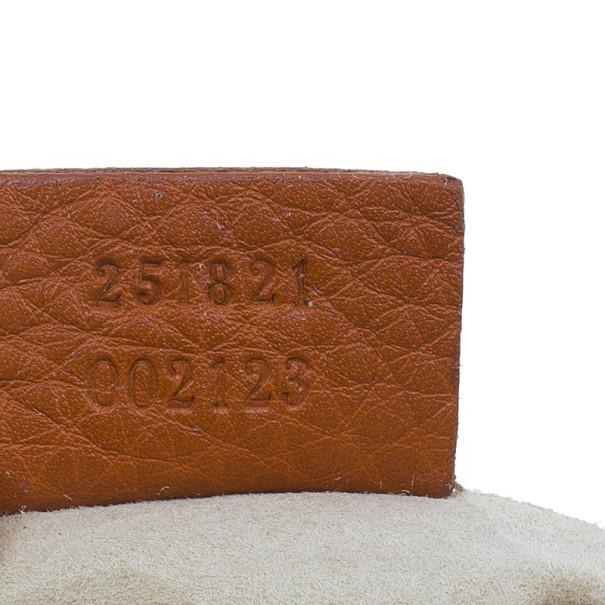 Gucci Orange Leather 1973 Small Chain Crossbody Bag