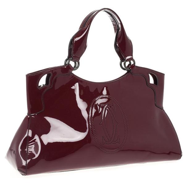 Cartier Red Patent Marcello De Cartier Bag
