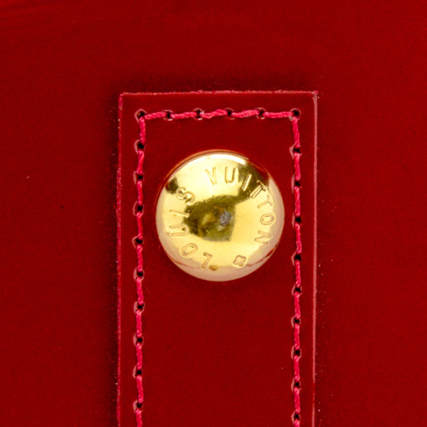 Louis Vuitton Pomme D' Amour Monogram Vernis Alma GM Satchel