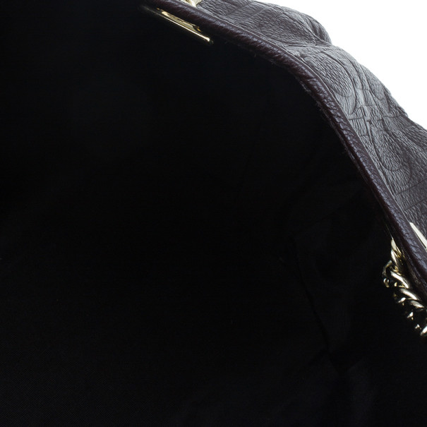 Carolina Herrera Brown Monogram Celidonia Chain Handle Tote
