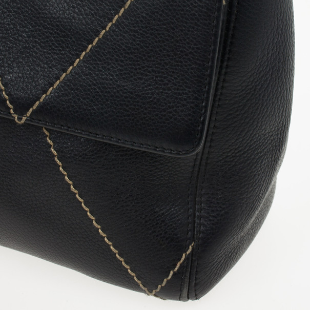 Chanel Black Diamond Stitch Surpique Bag