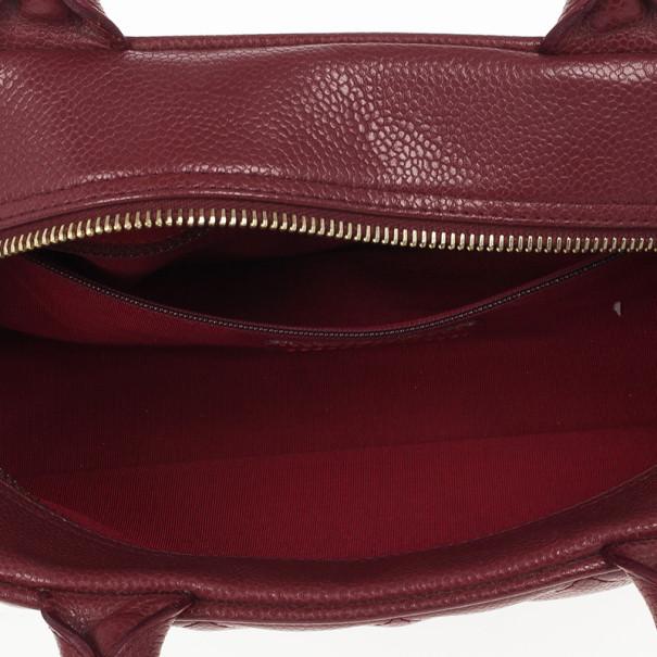 Chanel Caviar Skin Mini Boston Handbag