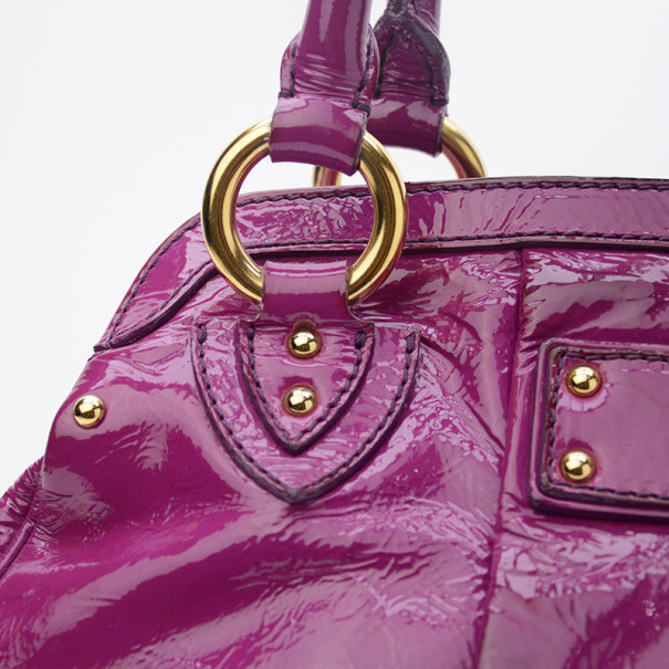 Marc Jacobs Alyona Purple Patent Leather Satchel