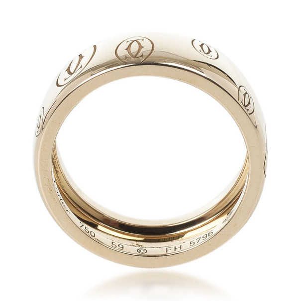Cartier 18 K Rose Gold Happy Birthday Wedding Band Size 59