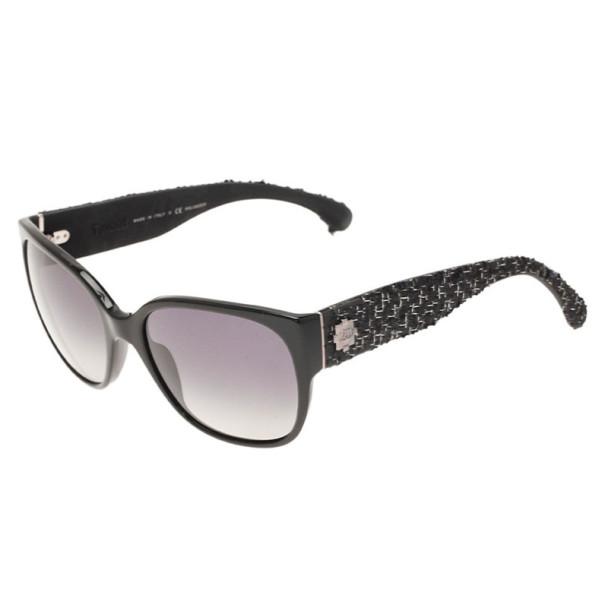 Chanel Black 5237 Tweed Sunglasses
