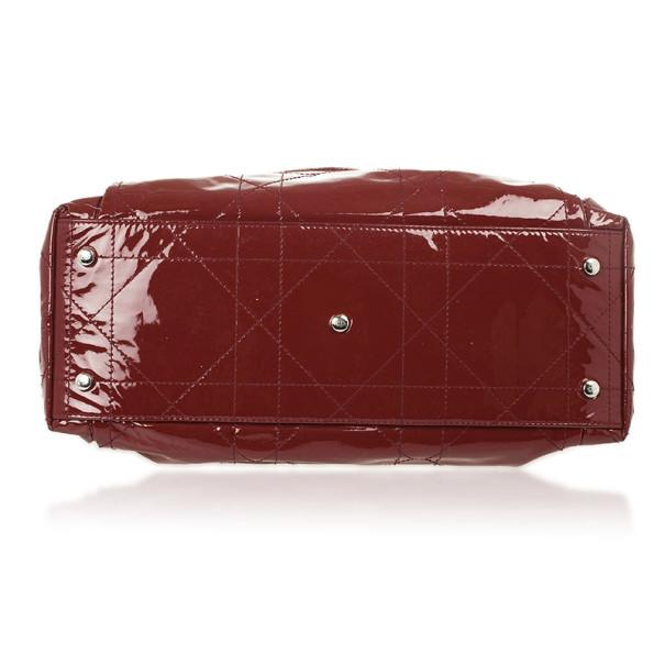 Dior Burgundy Patent 'Le Trente' Bag