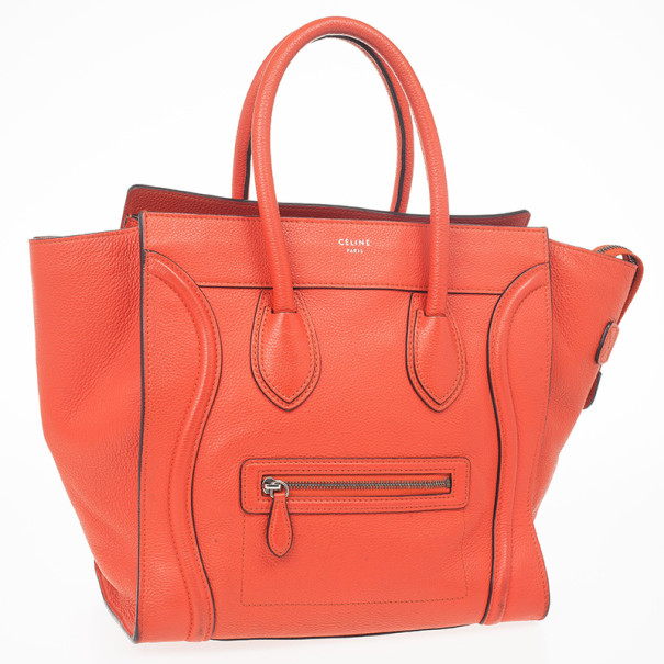 Celine Lipstick Red Mini Luggage Tote