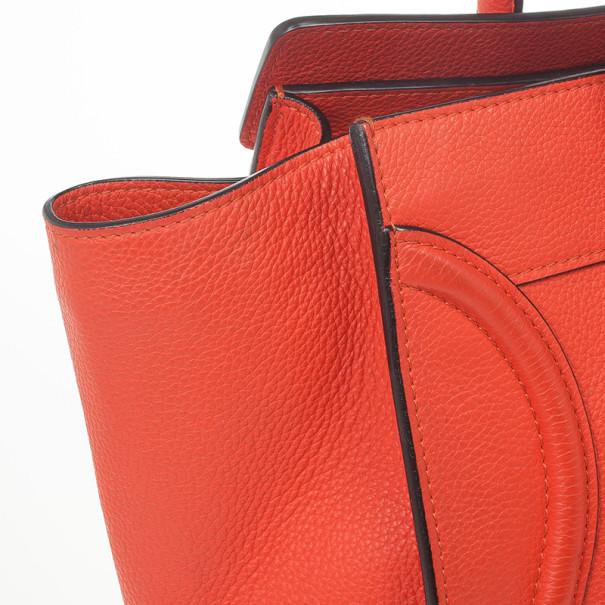 Celine Lipstick Red Mini Luggage Tote